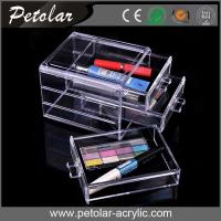 Quality portable clear acrylic drawer cosmetic organizer for sale