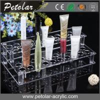 Quality double layer clear acrylic cosmetic display stand for sale