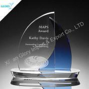 Quality Cheap engraved glass trophy wholesale for sale