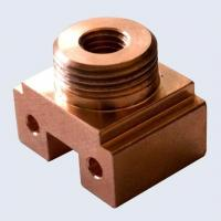 Buy cheap CNC Machining Copper Square Relay Base Parts from wholesalers