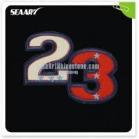 Quality wholesale number design embroidery for Tshirts decoration for sale