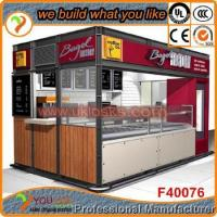 Design new style low factory price outdoor wooden kiosk for fast food