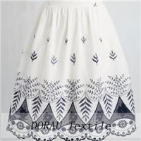 Quality border embroidery dress fabric for sale