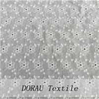 Quality customized cotton openwork embroidery fabric for sale