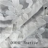 Quality silk cotton embroidered fabric for sale