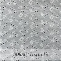 Quality Cotton Embroidery Fabric Cheap cotton eyelet fabric for sale