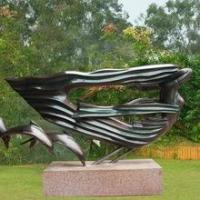 Quality Large outdoor Life size Bronze Dolphin Woman Sculpture Statue for sale