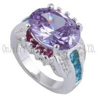 Quality OAR0291 Chinese factory price silver jewelry with CZ for sale