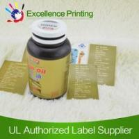 Quality Plastic self adhesive sticker used on the glass bottle for sale