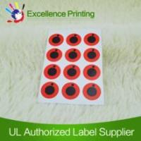 Buy cheap Self adhesive red label,label sticker,printed label from wholesalers