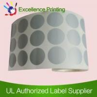 Buy cheap PET adhesive silver sticker from wholesalers