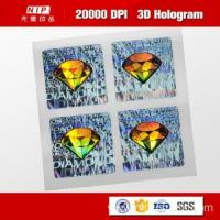 Color Change Custom 3d Holographic Stickers with UV Print
