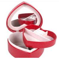 Quality Leather Case red leather jewelry box Jewelry Case THD-06 for sale
