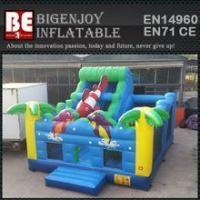 Quality multiplay bouncer ocean inflatable bouncer slide for sale