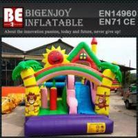 Quality super slide bounce house inflatable bouncer moonwalk for sale