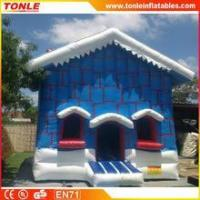 Quality Christmas Cottage inflatable bouncy castle/Christmas Cottage inflatable jumping bouncer for sale for sale