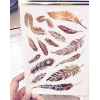 Quality Crystal Sticker Metal Gold Silver Color Tattoo for sale