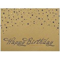 Quality Business Birthday Cards Item A6000G-4W Gold Lustre Birthday for sale