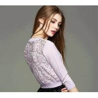 Quality d10640b 2016 european women cardigan ladies lace flower stitching sweater knitted sweater for sale
