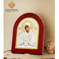 Religious gifts virgin mary byzatine icon wood back