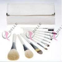 TB-10-29 Synthetic Hair 10pcs makeup brush set white with case