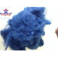 Quality 1.5D blue recycled polyester staple fiber for sale