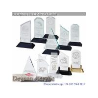 Quality Custom shape acrylic trophy irregular design for sale