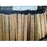 Quality Black cap varnish wooden broom handle for sale