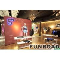 China Clothing Display Fashional Clothing Store Wooden Retail Display Counters on sale