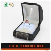 Quality Luxury Design Insert Led Light Small Man Gift Boxes For Ring for sale