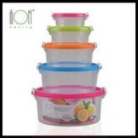 Quality Round Trasparent Plastic Storage Box for sale