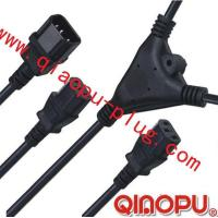 Quality one to Two connectors,power cord,power cord three-way connector for sale