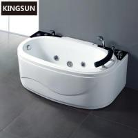 Quality 1Person Indoor Acrylic Oval Freestanding Whirlpool Massage Adult Bathtub for sale