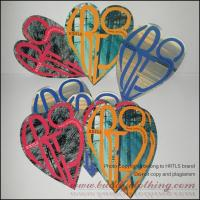 China Full Color Printed Vinyl Sticker-Heart 12001 on sale