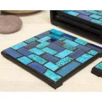 Quality Cheap price wholesale mosaic crackle glass coaster drink coasters for souvenirs for sale