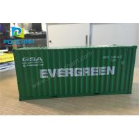 China Simulation Model 1:30 20GP green metal shipping container model on sale