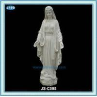 Quality cheap white marble statue of mother mary for sale