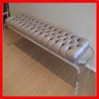 Quality solid custom hot bending lucite clear sofa bench base/leg for sale