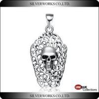 Skull artist necklace pendant new arrival 925 sterling silver charms skull head ornament