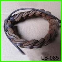 Quality LB-085 genuine leather bangle for sale