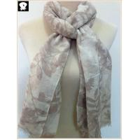 Quality Foliage prints viscose scarf, china scarf factory for sale