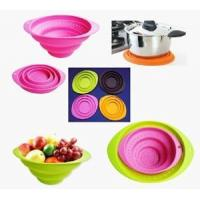 Hot sell silicone collapsible fruit basket / folding bowl with OEM design