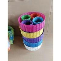 Quality Hot Sale colorful PP Woven Storage Basket for sale