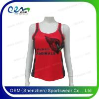 Buy cheap Cheerleading uniform Red cheerleading tanl top from wholesalers