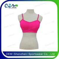 Buy cheap Cheerleading uniform hot pink lace back sports bra from wholesalers