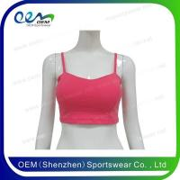 Buy cheap Cheerleading uniform plain pink sports bra from wholesalers