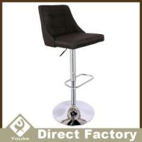 Quality Buttons Swivel Adjustable Fabric Bar Chair With Back for sale