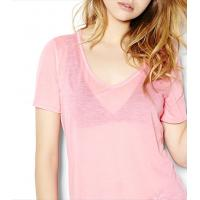 Womens s clothing women s v neck translucent knitted tee wholesale