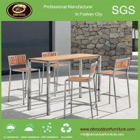 China Modern plastic wood table top furniture home furniture bar set on sale