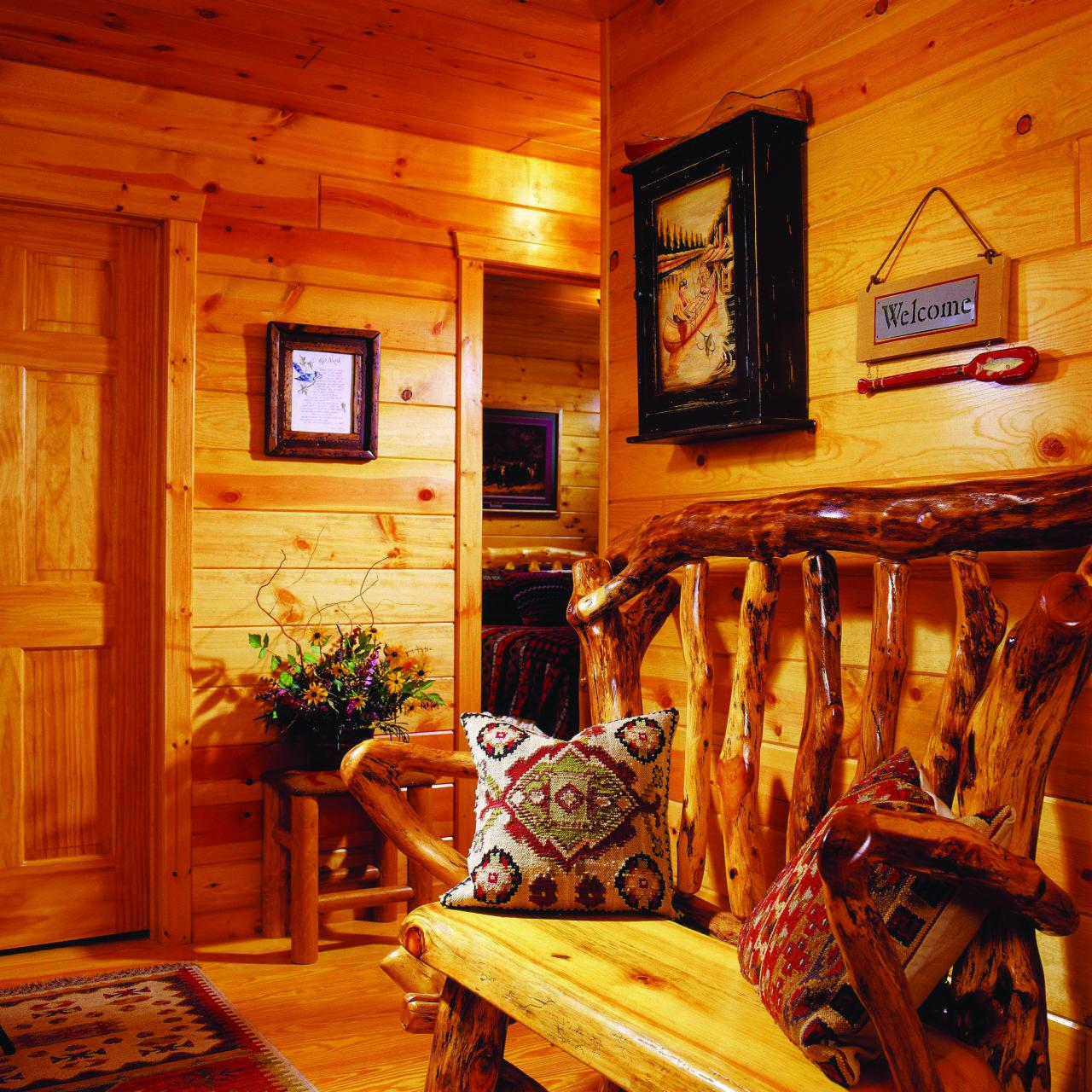 Quality Mountain Lodge Pine Paneling for sale